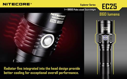 NiteCore EC25 Cobra LED Zaklamp werkt op batterijen 860 lm 25 h 122 g