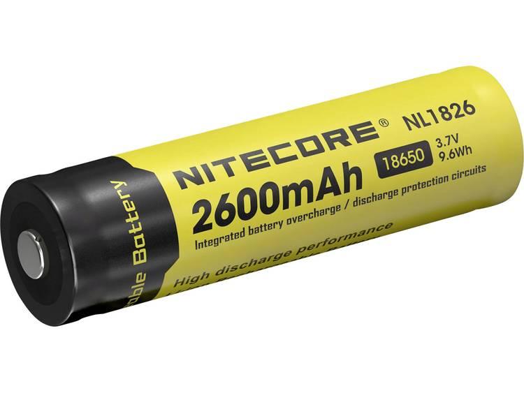 NiteCore NL1826 Speciale oplaadbare batterij 18650 Li-ion 3.7 V 2600 mAh