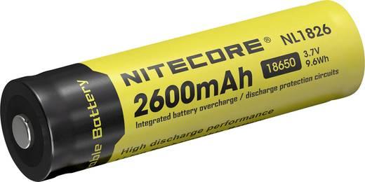 NiteCore NL186 Speciale oplaadbare batterij 18650 Li-ion 3.7 V 2600 mAh