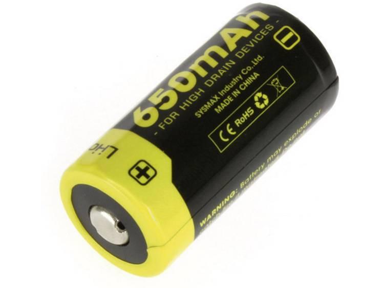 NiteCore NL166 Speciale oplaadbare batterij 16340 Li-ion 3.7 V 650 mAh