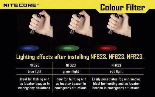 NiteCore-blauwfilter 23 mm NFB23 voor MT1A, MT2A, MT1C en zaklampen met een Ø 23 mm