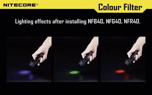 NiteCore-blauwfilter 40 mm NFG40 voor MH25, EA4, P25, P16, P15, SRT7, CR6, CG6, CB6, CI6, CU6 en zaklampen met een Ø 39