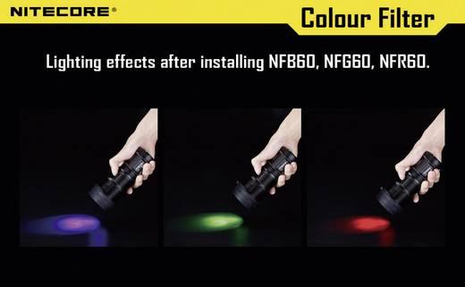 NiteCore roodfilter 60 mm NFR60 voor MH40, TM11, TM15, EA8 en zaklampen met een Ø van 59-62 mm