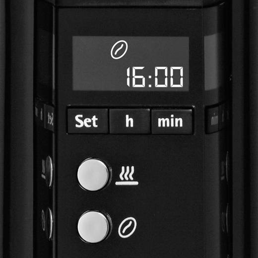 WMF Koffiezetapparaat RVS, Zwart 900 W Capaciteit koppen: 12 Display, Timerfunctie, Warmhoudfunctie 0412060011