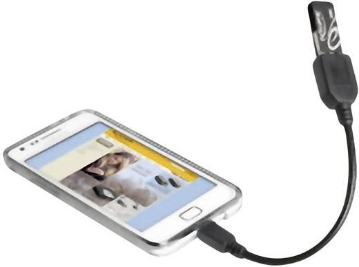 Delock USB 2.0 Aansluitkabel [1x USB 2.0 stekker micro-B - 1x USB 2.0 bus A] 0.15 m Zwart Met OTG-functie