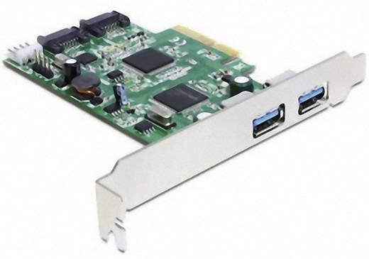 2 poorten USB 3.0-controllerkaart USB-A PCIe