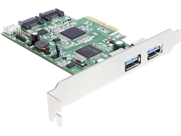 2 poorten USB 3.0-controllerkaart USB-A PCIe Delock 89359