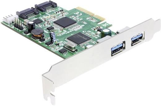 Delock 2 poorten USB 3.0-controllerkaart PCIe