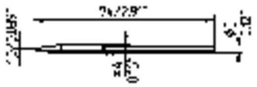 Ersa 212 CD LF Soldeerpunt Beitelvorm Grootte soldeerpunt 1 mm