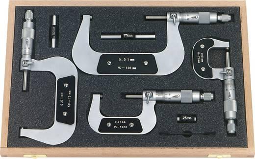 Helios Preisser 0800 513 7-delig Set micrometers Meetbereik(en) afhankelijk van de micrometer 0 - 100 mm, vanaf 25 mm in