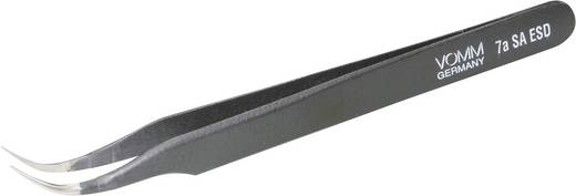 VOMM 3605 ESD-pincet 7a SA-ESD Sikkelspits, gebogen 55°, rond 120 mm