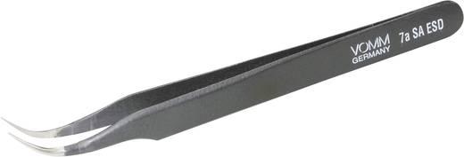 VOMM Speciale pincet Uitvoering (algemeen) Fijne sikkelpunt 55° gebogen rond Lengte 120 mm 3605