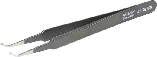 Onderdelenpincet 8b SA-ESD Plat-breed, gebogen