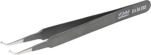 VOMM 3624 Onderdelenpincet 8b SA-ESD Plat-breed, gebogen 120 mm