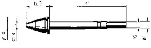 Ersa EN 0818 Desoldeerpunt Grootte soldeerpunt 0.8 mm