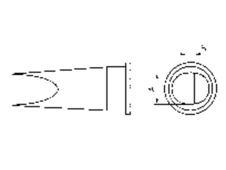 Weller Professional LHT-E Soldeerpunt Platte vorm Grootte soldeerpunt 6.7 mm