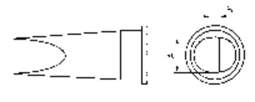 Weller LHT-E Soldeerpunt Platte vorm Grootte soldeerpunt 6.7 mm