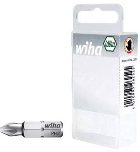 Wiha 7011-921 Kruis-bit PH 1 Chroom-vanadium staal gehard C 6.3 3 stuks