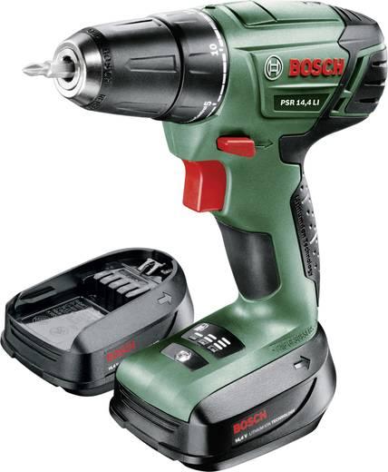 Bosch PSR 14,4 LI Accu-schroefboormachine incl. 2 accu's, incl. koffer 14.4 V 1.5 Ah Li-ion