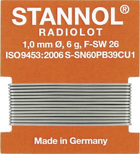 Stannol HS 10 Soldeertin, loodhoudend Wikkel Sn60Pb39Cu1 6 g 1.0 mm