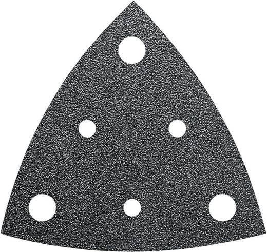 Delta schuurpapier met klittenband, geperforeerd Korrelgrootte 60 Hoekmaat 80 mm Fein 63717237010 35 stuks