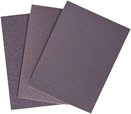 Handschuurpapierset met klittenband, ongeperforeerd Korrelgrootte 60, 80, 120, 200 (l x b) 115 mm x 67 mm RONA 450816 1 set