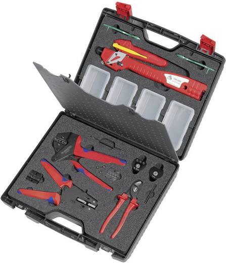 Rennsteig Werkzeuge Krimptang Solar-connectoren 2.5 tot 6 mm² incl. kabelschaar, incl. striptang, incl. optrekgereedschap voor MC3, incl. montagegereedschap voor MC4 624 105-11