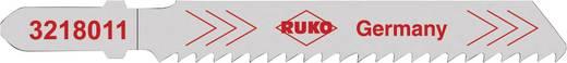 Decoupeerzaagbladen RUKO 3228011 Staal (St 37) tot 4 mm, gecorrodeerd staal, V2A tot 3 mm, gekleurd metaal en aluminium van 3 tot 10 mm, hardkunststof en plexiglas van 3 tot 8 mm, asbestcement 2 tot 4 mm, eterniet tot 10 mm 5 stuks