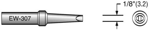 Plato EW-307 Soldeerpunt Platte vorm Grootte soldeerpunt 3.2 mm