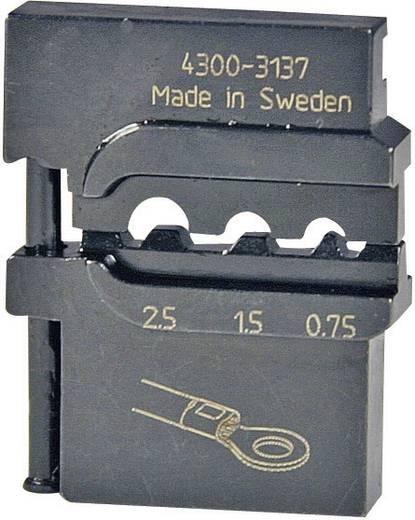 Pressmaster Krimpinzetstuk 0,75/ 1,5/2,5 mm² Ongeïsoleerde kabelschoenen 4300-3137