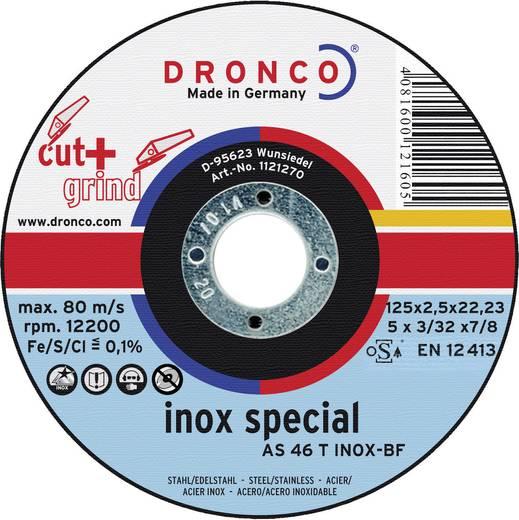 Dronco 1123270-100 Doorslijp- en schuurschijf AS 46 T INOX Cut+Grind Ø 125 mm 1 stuks