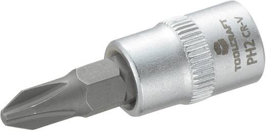 TOOLCRAFT Dop 6,3 mm (1/4 inch) met kruiskop-bitinzet PH2 37 mm
