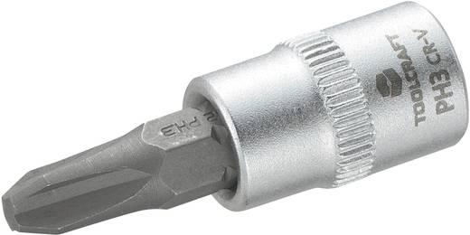 TOOLCRAFT Dop 6,3 mm (1/4 inch) met kruiskop-bitinzet PH3 37 mm
