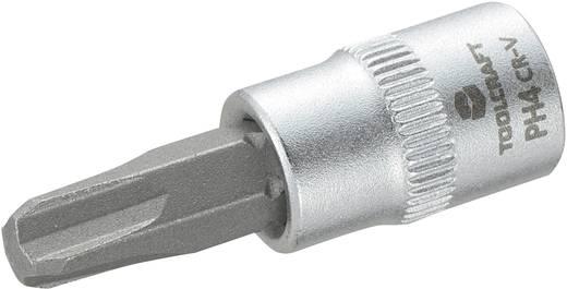 TOOLCRAFT Dop 6,3 mm (1/4 inch) met kruiskop-bitinzet PH4 37 mm
