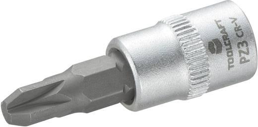 TOOLCRAFT Dop 6,3 mm (1/4 inch) met kruiskop-bitinzet PZ3 37 mm Kop (gereedschap) 6,3 mm (1/4 inch)