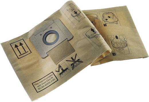 Nilfisk Papieren filterzak annex afvalzak 10 stuks 140 8618 000 Geschikt voor Nilfisk Alto Saltix 10,