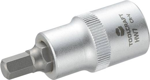 """TOOLCRAFT 816157 Inbus Dopsleutel-bitinzet 7 mm 1/2"""" (12.5 mm) Afmeting, lengte: 55 mm"""