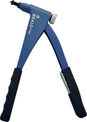 Bralo TR-105 Handtang met metalen koffer en assortiment popnagels aluminium/staal Lengte 265 mm