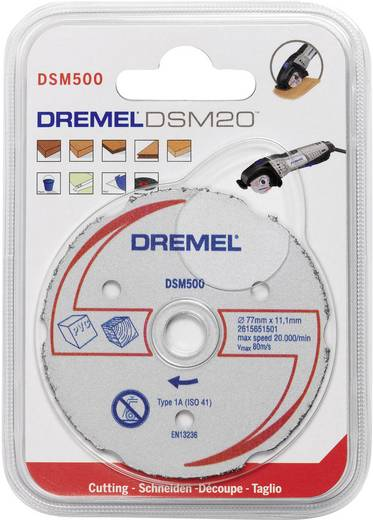 Multifunctionele carbide doorslijpschijf DSM 500 Dremel 2615S500JA Diameter 77 mm 1 stuks