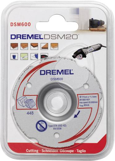 Multifunctionele carbide doorslijpschijf DSM 600 Dremel 2615S600JA Diameter 77 mm 1 stuks