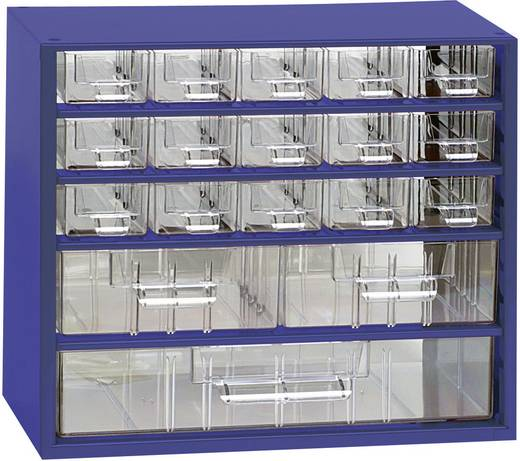 Werkplaatsmagazijnkast (l x b x h) 307 x 155 x 284 mm Aantal vakken: 18 Vaste onderverdeling