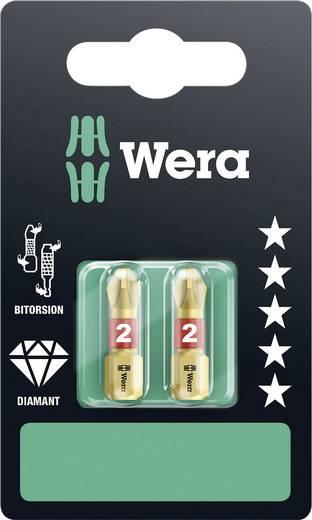 Wera 851/1 BDC SB SiS Kruis-bit PH 2 Gereedschapsstaal Diamant gecoat, gelegeerd D 6.3 2 stuks