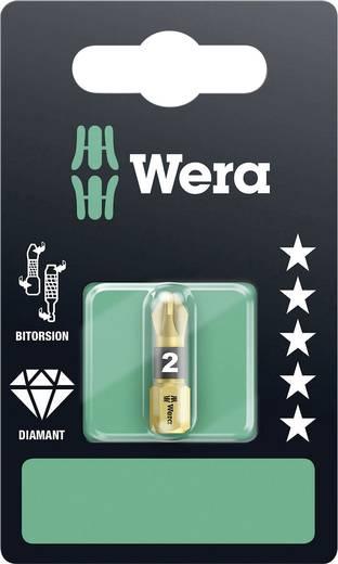 Wera 855/1 BDC SB SiS Kruis-bit PZ 2 Gereedschapsstaal Diamant gecoat D 6.3 1 stuks