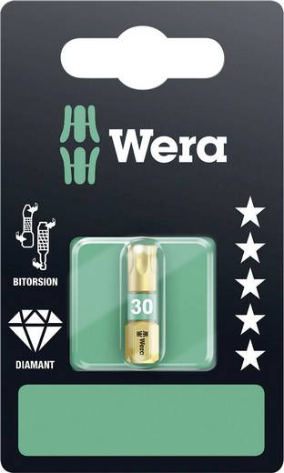Torx-bit T 30 Wera 867/1 BDC E SB Gereedschapsstaal gelegeerd, Diamant gecoat D 6.3 1 stuks