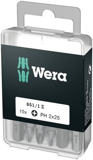 Wera 851/1 Z DIY SiS Kruis-bit PH 1 Gereedschapsstaal gelegeerd, taai D 6.3 10 stuks