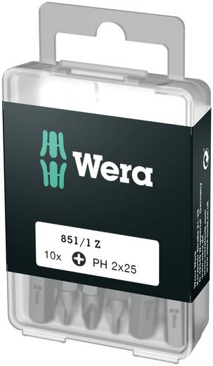 Wera Box 851/1Z PH1 (1 = 1VE à 10 st.) Kruis-bit PH 1 Gereedschapsstaal gelegeerd, taai D 6.3 10 stuks