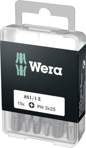 Wera Box 851/1Z PH3 (1 = 1VE à 10 st.) Kruis-bit PH 3 Gereedschapsstaal gelegeerd, taai D 6.3 10 stuks