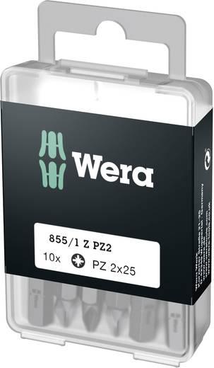 Wera 855/1 Z DIY SiS Kruis-bit PZ 2 Gereedschapsstaal taai D 6.3 10 stuks