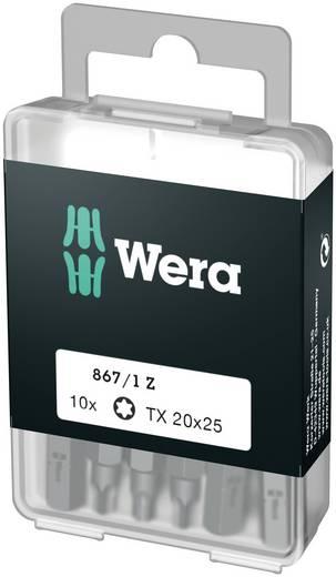 Torx-bit T 10 Wera 867/1 Z DIY SiS Gereedschapsstaal gelegeerd, taai D 6.3 10 stuks