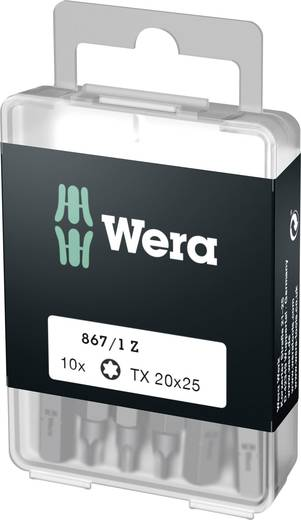 Torx-bit T 20 Wera Box 867/1Z TX20 (1 = 1VE à 10 st.) Gereedschapsstaal gelegeerd, taai D 6.3 10 stuks